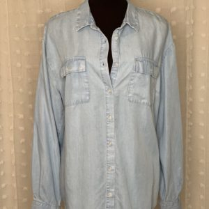 light blue chambray womens shirt thelma and Louise