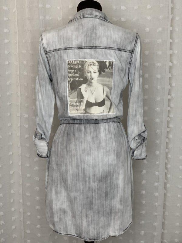 gray distressed womens shirt dress spotless reputation