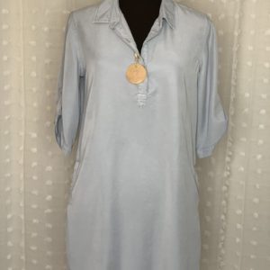 light blue chambray womens shirt dress nickels and dimes