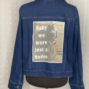 dark blue womens denim jacket rodeo